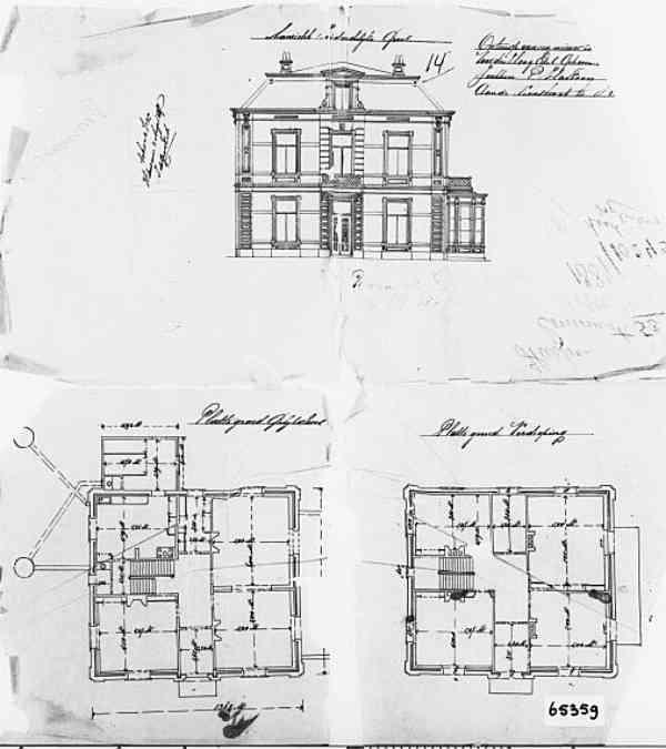 Emmastraat+nr+61+Sophialaan+nr+1+1899