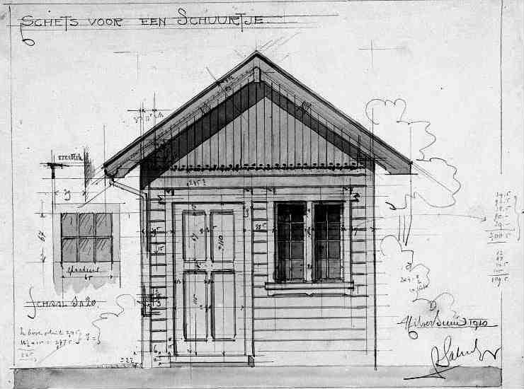 Heuvellaan+nr+32+1910+Schuurtje