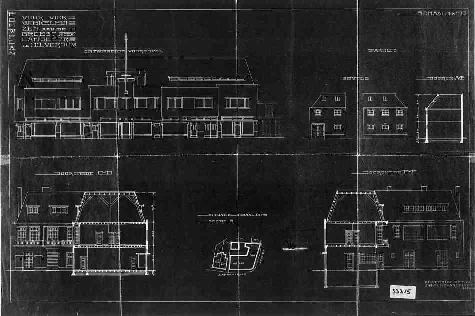 Groest+nr+136-138++Langestraat+nr+2-4+1929